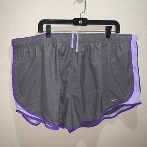 New Nike shorts Sz 3X athletic train gray purple